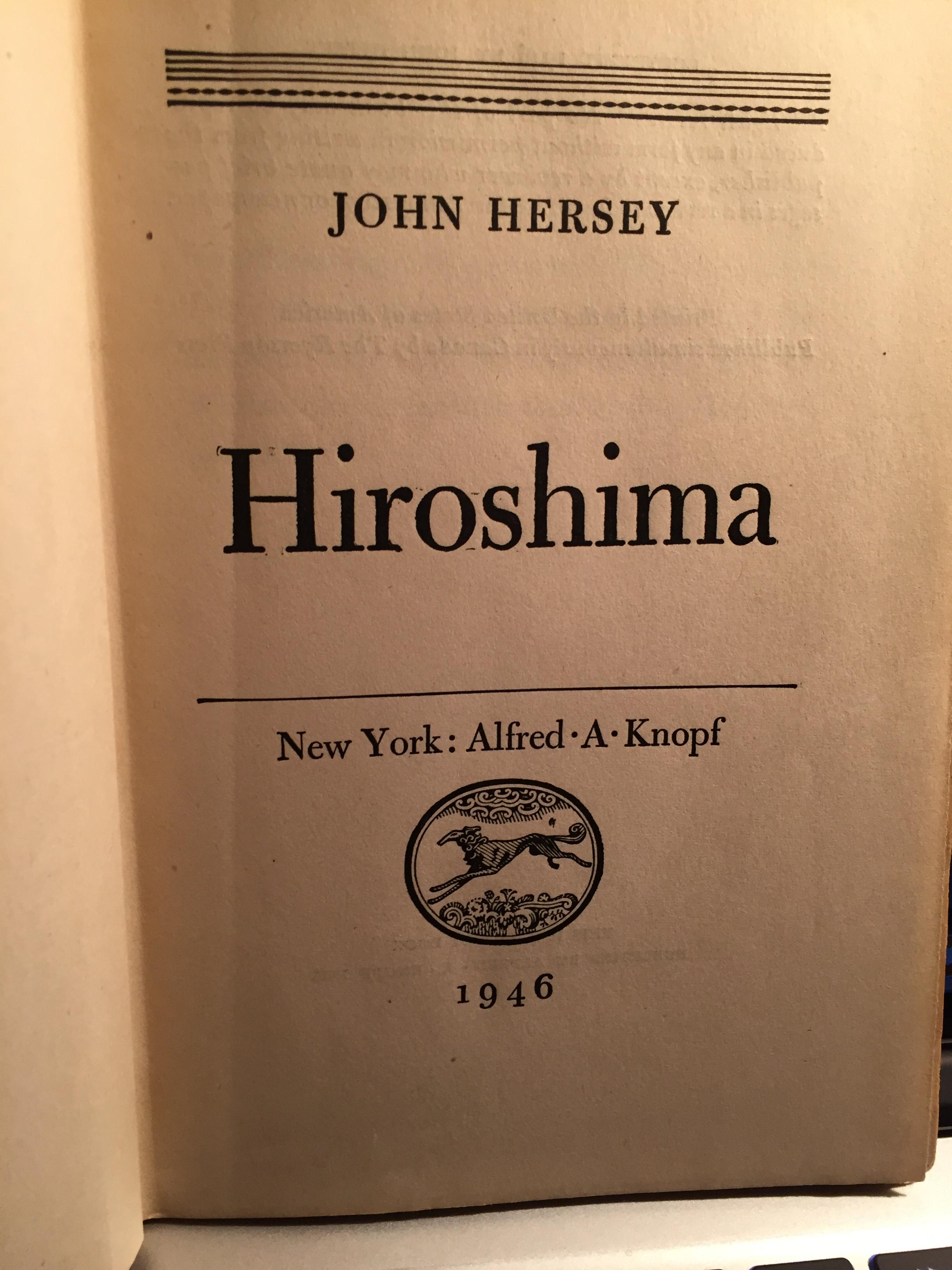 Hiroshima, John Hersey.JPG